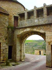Medieval Archway in nearby Flavigny-sur-Ozerain