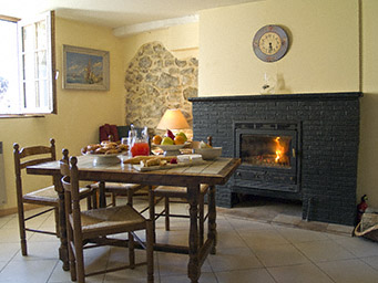 Fall and winter holiday rentals are provided with plenty of fire wood.