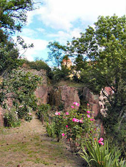 Upper Garden with a view of the ramparts